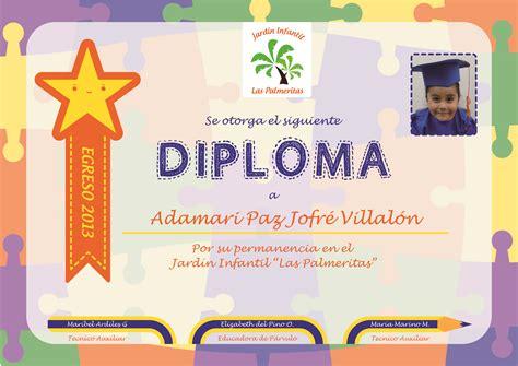 diplomas escolares infantiles para ni 241 os para imprimir y diploma infantil word diploma infantil word imagui