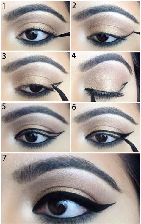 tutorial eyeliner wings winged eyeliner tutorial step by step style arena