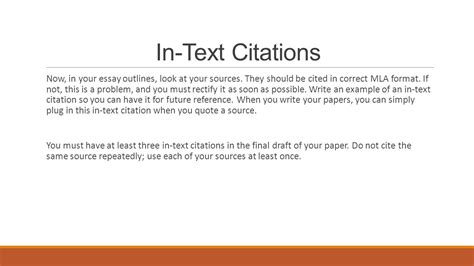 how to write a paper with citations in text citations mla format ppt