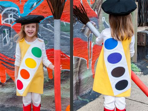 Handmade Costume - how to make a watercolor paint box costume how