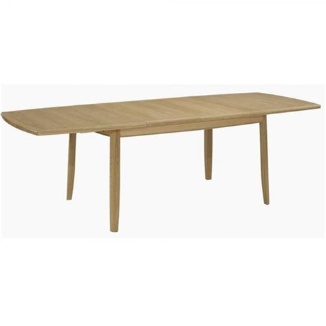 nathan 2805 extending boat shaped dining table on legs at