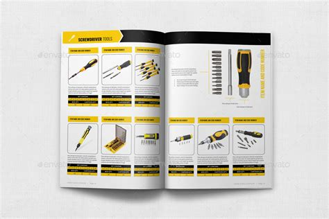free product brochure template tools products catalog brochure template 24 pages