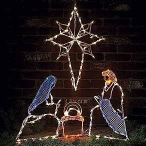 3 pc holographic lighted christmas outdoor nativity scene set 3 pc holographic lighted outdoor nativity set new