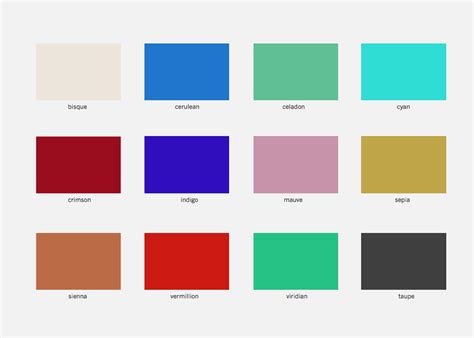 common and uncommon color names a candle in the