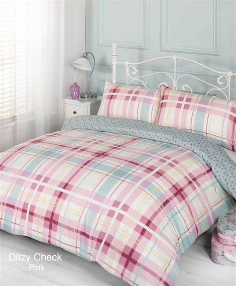 single bed comforter duvet quilt cover bedding set pink single double king