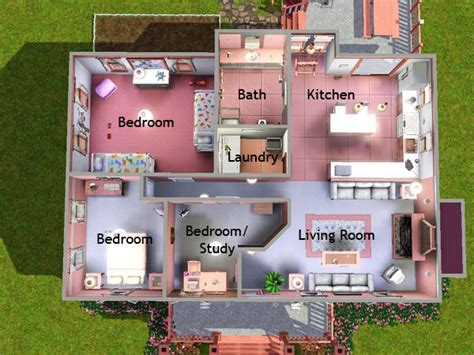 sims 3 house floor plans lizholsimer s 2 pink