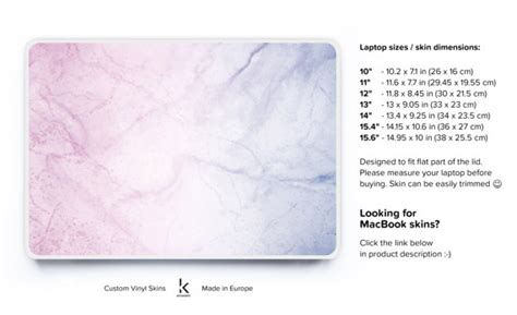custom hp pink marble marble laptop skin pink marble pc skin notebook cover hp