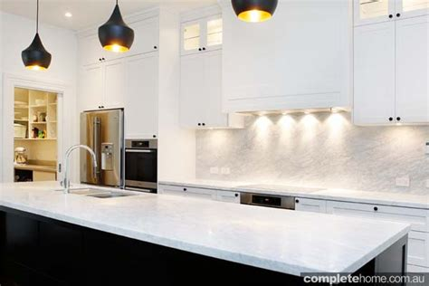 contemporary black and white kitchen design completehome