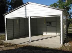 metal garage two car 2