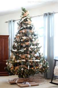 Modern Decorated Christmas Trees - neutral rustic glam christmas tree love of family amp home