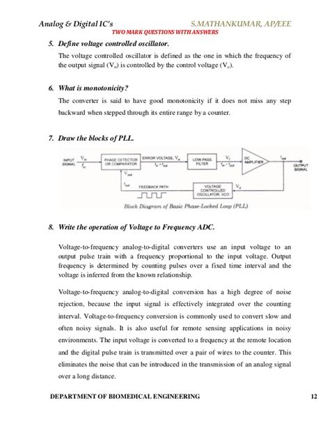 integrated circuits applications viva questions 28 images analog digital integrated circuits