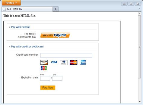 credit card payment website template paypal payments advanced getting started with hosted