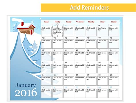 5steps to create a calendar in powerpoint and add reminder
