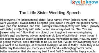 Sle Of Honor Speeches For Younger of honor speeches for 1 for free
