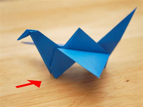 How To Make Bird With Paper Folding - how to make an origami flying bird with pictures wikihow
