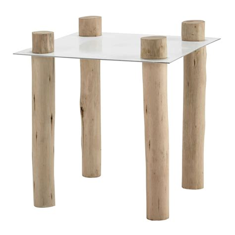 45 cm side table komodo metal and wood side table in white w 45cm maisons
