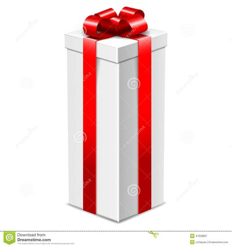 gifts for wall guys white gift box with bow isolated on white stock illustration image 47628807