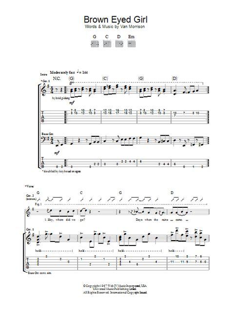 printable lyrics for brown eyed girl brown eyed girl sheet music direct