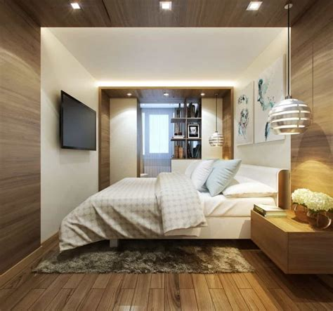 kleine schlafzimmer makeovers contemporary small bedroom with mounted lcd tv and bedside