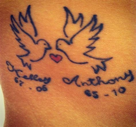 rest in peace tattoo number 1 doves rest in peace to my godparents