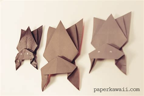 How To Make Bat With Paper - hanging origami bat for paper kawaii