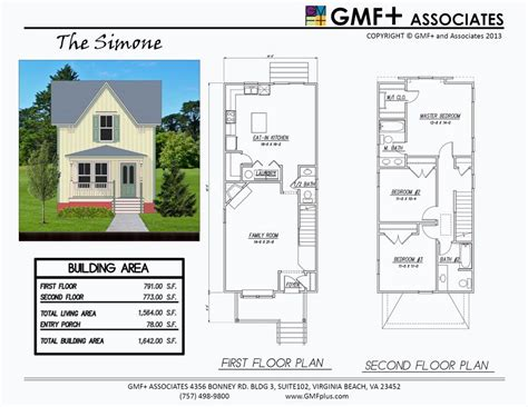 Two Story House Plans For Narrow Lots by The Is A 3 Bedroom House Plan Intended For A Narrow