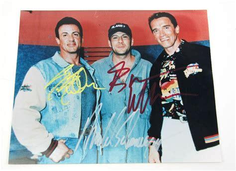 celebrity autographs coa 3 action movie celebrity autographs with coa