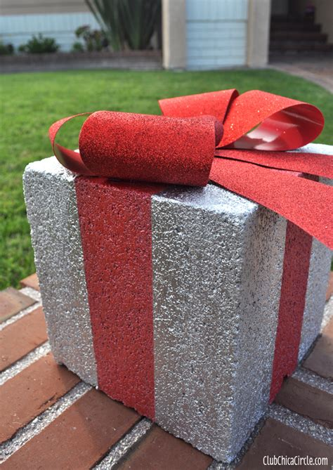 picture of diy holiday gift box for christmas outdoor decor