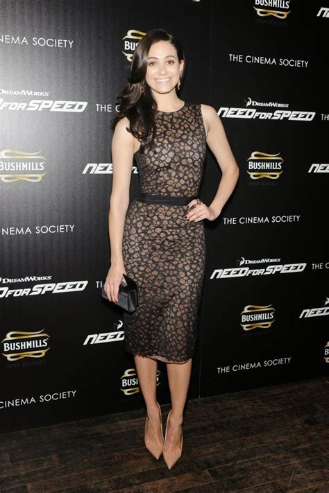 emmy rossum vera wang emmy rossum wears vera wang to the need for speed nyc