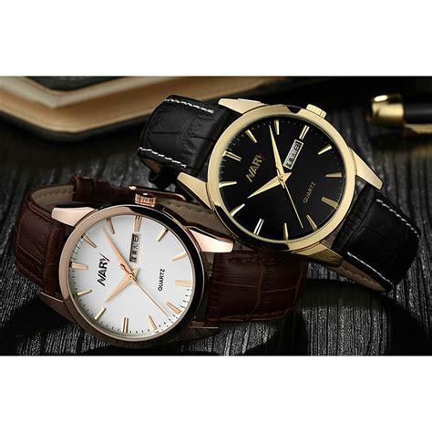 Jam Tangan Korek Api 511 Black List White nary jam tangan analog kulit 1901 brown white jakartanotebook