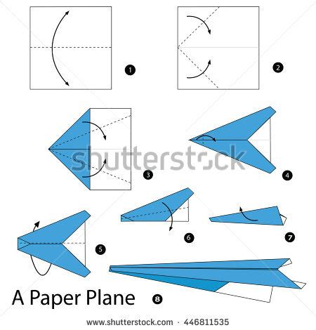 How To Make A Paper Plane Step By Step - origami paper stock images royalty free images vectors