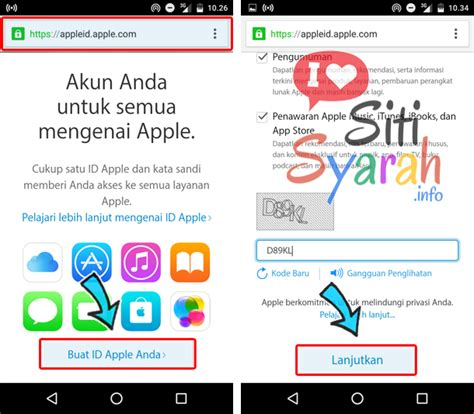 membuat apple id di android membuat id iphone lewat komputer dan android