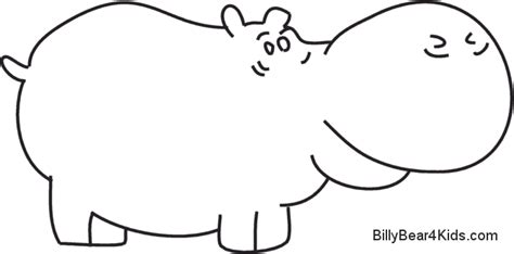 billy bear coloring pages image gallery hippo outline clip art