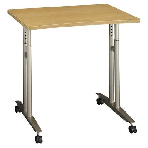 adjustable height c table bush business series c adjustable height table light oak