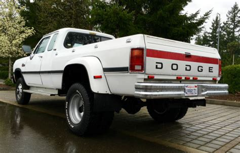 1 Ton Dodge Dually For Sale 1993 Dodge Ram D350 Diesel 1 Ton Dually Four