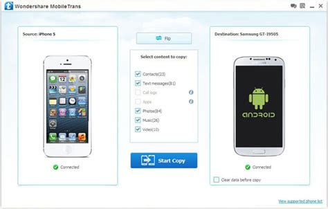 transfer android to iphone how to transfer data between iphone and android phone