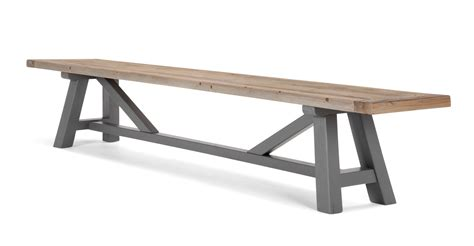 banc bois massif iona banc bois massif et gris made