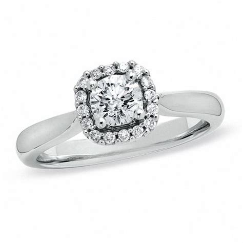 5 8 ct t w engagement ring in 14k white gold