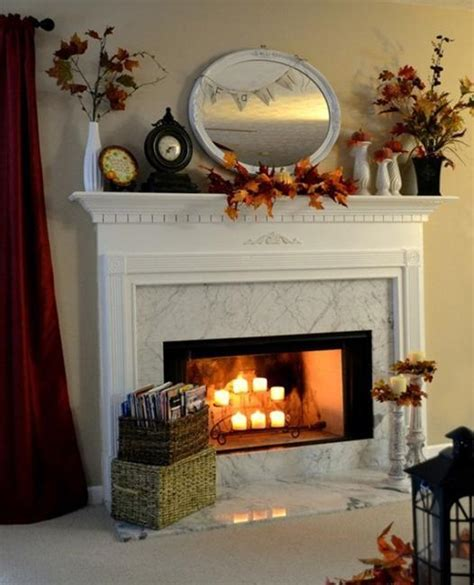 fall fireplace decorating ideas colorful fall decorating in vintage style for fireplace