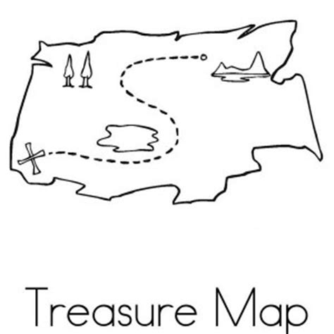 simple map coloring page simple pirate treasure map