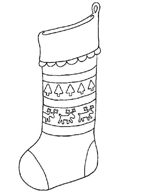 Christmas Stocking Coloring Pages   Kids Coloring