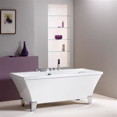 qualitex bathrooms qualitex iconic warwick freestanding bath 1700 x 740mm