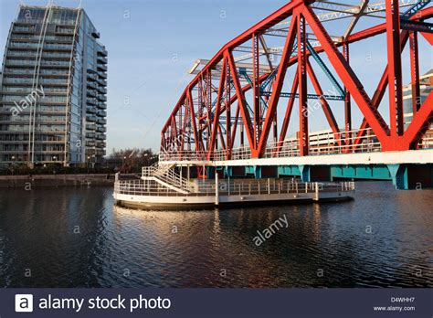 detroit swing city detroit swing bridge at salford quays linking the lowry to