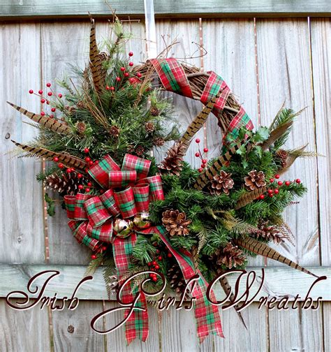scottish highland christmas decorating ideas s wreaths where the difference is in the details 187 pheasant feather