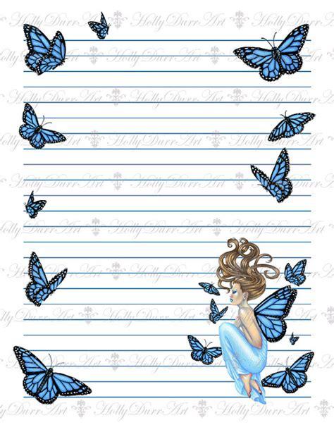 printable fairy stationary items similar to digital fairy stationery printable paper