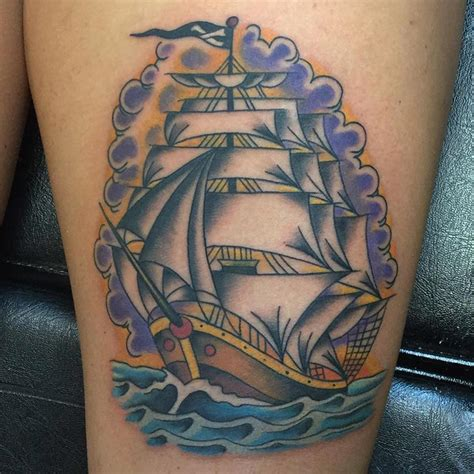 traditional pirate ship tattoo 95 best pirate ship designs meanings 2018