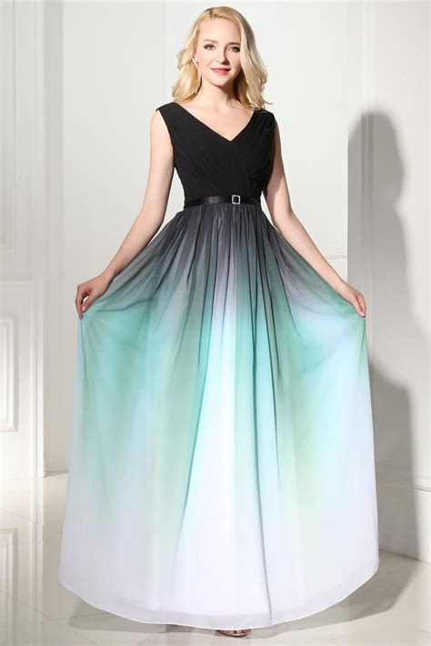 princess prom dresses ombre a line princess prom dresses