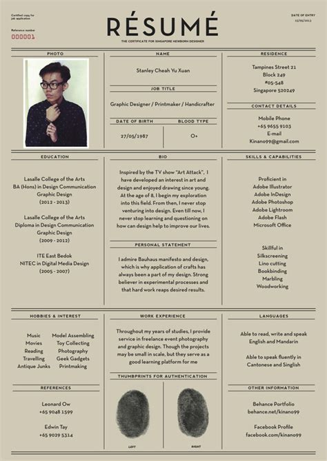 Behance Resume Template | Cv Template Behance Example Good Resume Template