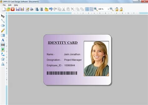 id card design software names photo identity card generator software