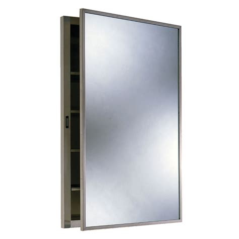 Bobrick B398 Recessed Medicine Cabinet Stainless Steel